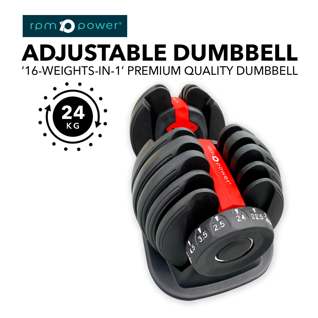 Adjustable Dumbbells [Pair] 24kg