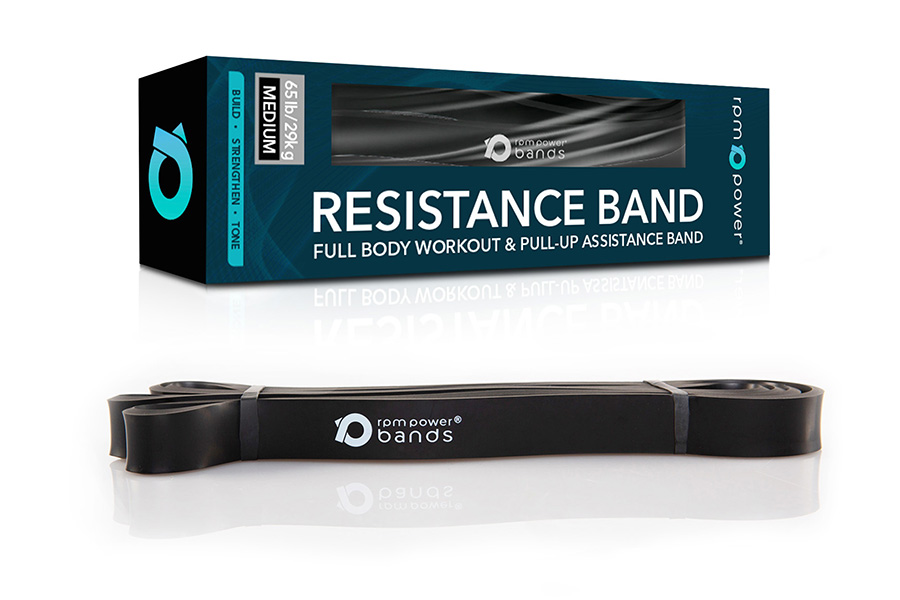 Resistance Band Black (Medium) 25 - 65lbs