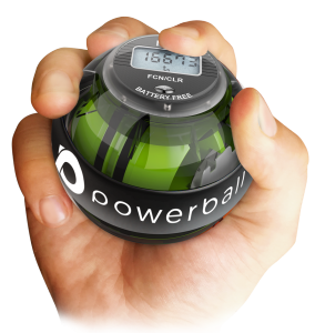 wrist tendonitis exercises with Powerball 280 Autostart classic in hand