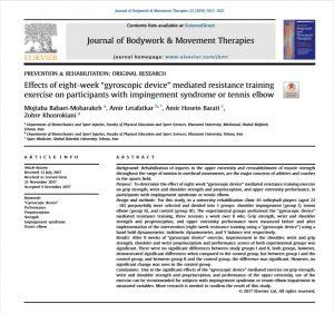 tennis elbow exercise, powerball exercise, powerball research study
