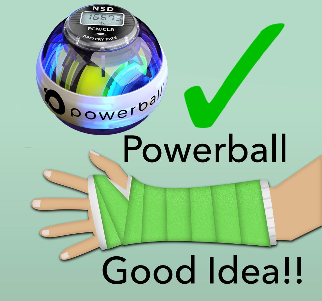 Powerball is good for arm rehab