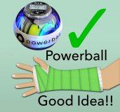 Powerball Arm Rehabilitation, arm cast with Powerball