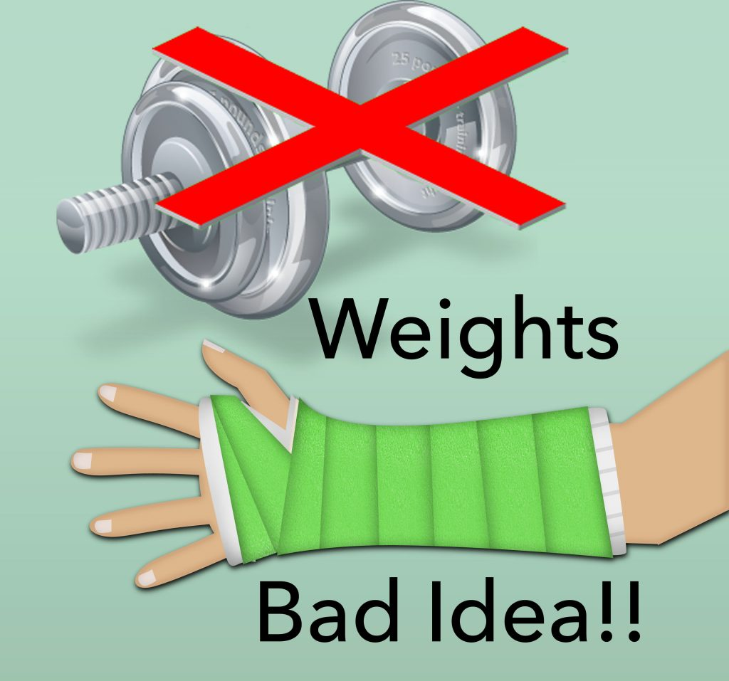 Weights are bad for arm rehab