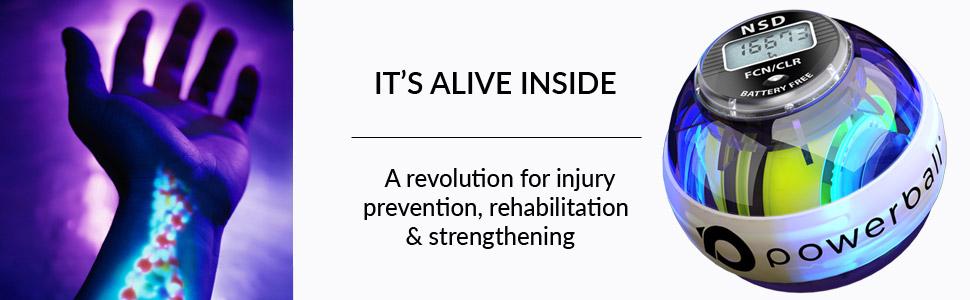 hand rehabilitation Powerball fusion banner