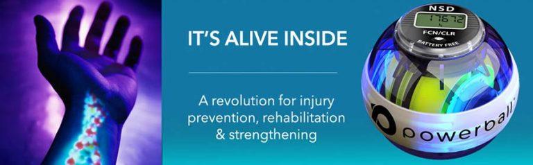 wrist physical therapy, powerball, wrist rehab
