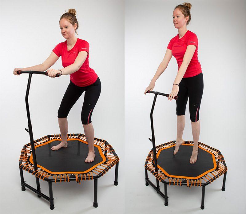 powerball, mini fitness trampoline